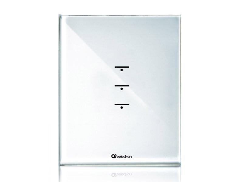 przycisk szklany biały