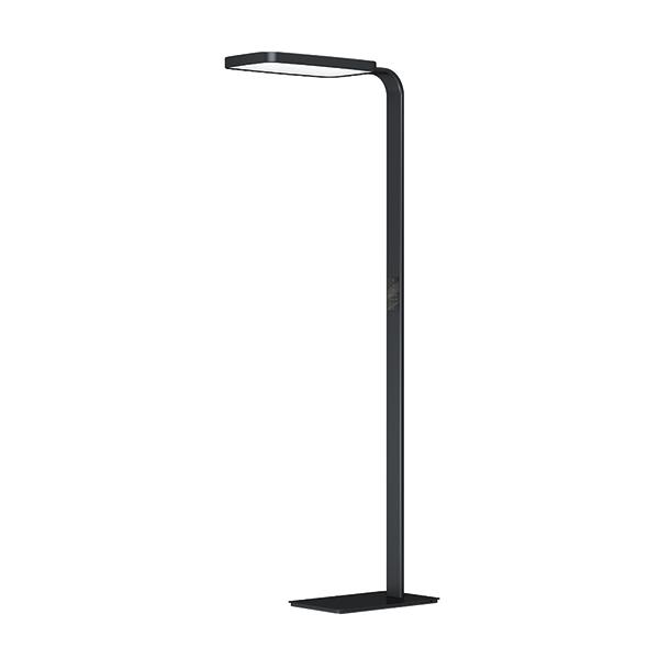 czarna lampa stojąca biurowa ev10401046