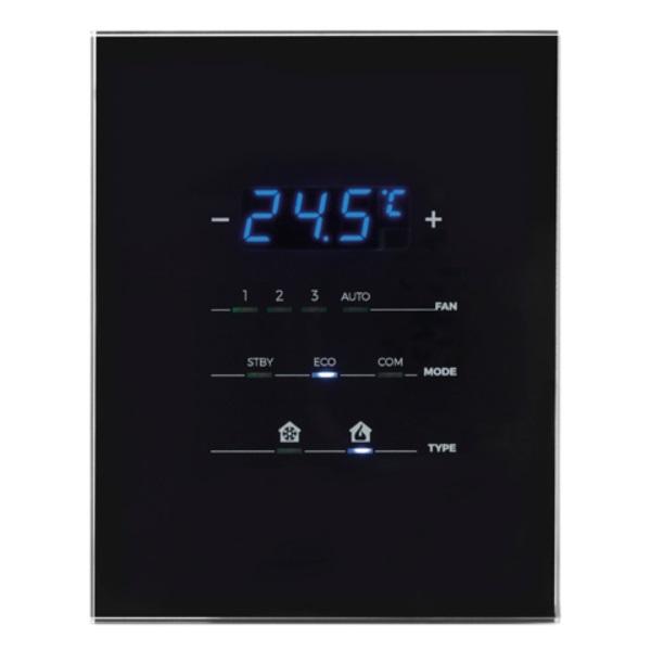 szklany termostat dotykowy knx