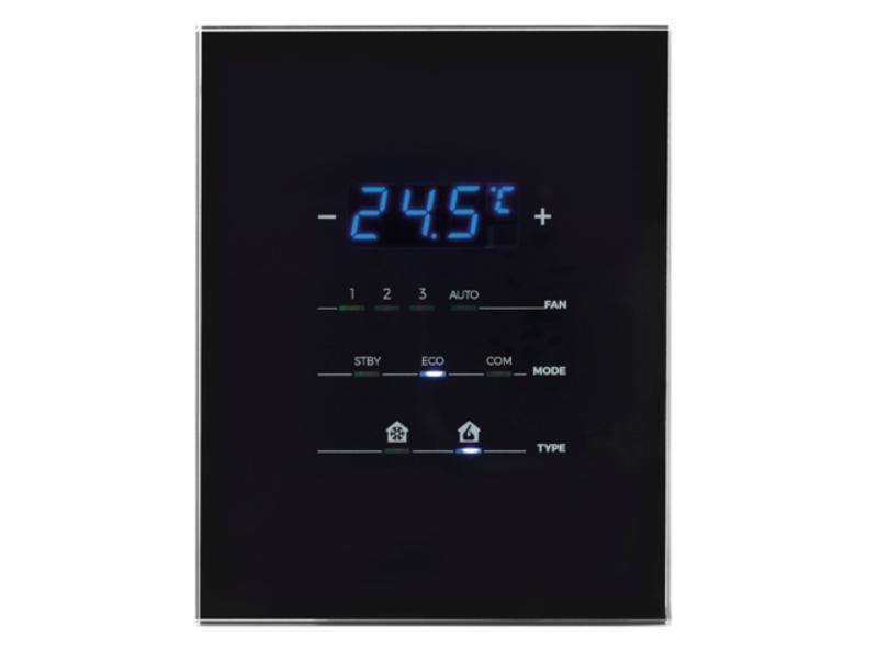 termostat knx czarny