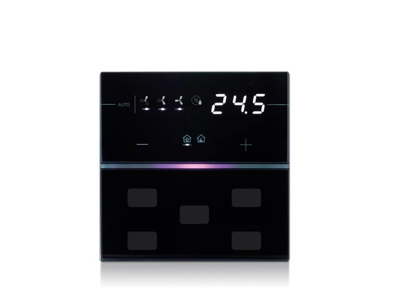 termostat hotelowy knx czarny