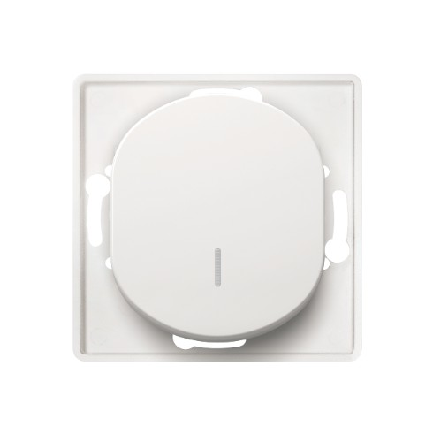 łącznik jednobiegunowy biały podświetlany 1P