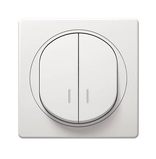 biały łącznik z podświetleniem