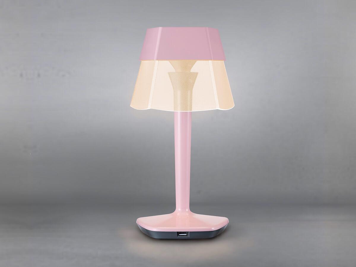 ludia różowa lampa stołowa