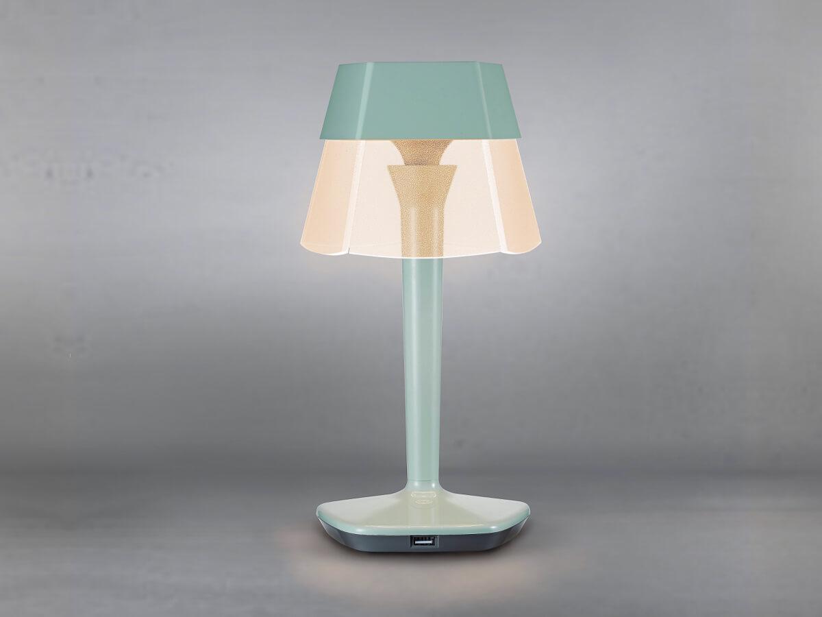ludia zielona lampa stolowa